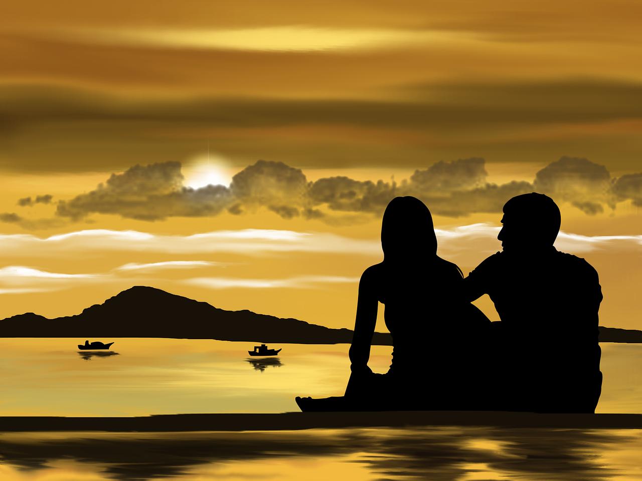 To mennesker på en strand